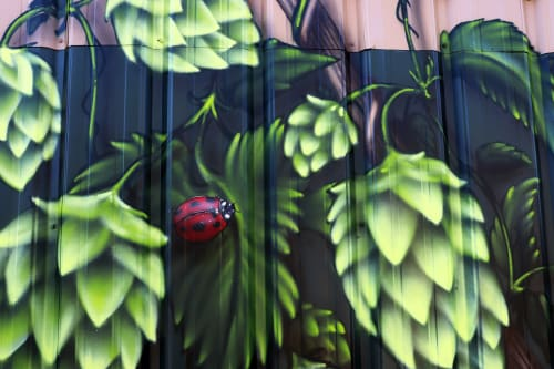 Street Murals by Jared Goulette | The Color Wizard seen at Boothbay Craft Brewery, Tavern, RV & Cottages, Boothbay - Boothbay Craft Brewery exterior Murals