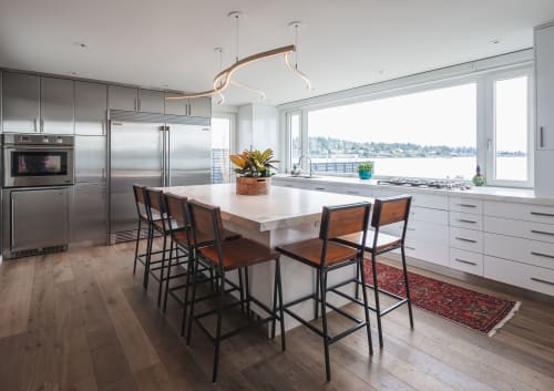 Pendants by Kurva Design seen at Private Residence, Victoria - Kelp Down Light