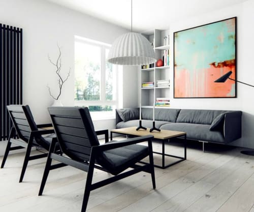 Paintings by ERIN ASHLEY seen at Private Residence - Painting showcased in designer room