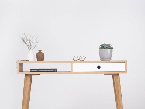Small Console Table Entryway Table With White Drawer By Mo Woodwork Seen At Creator S Studio Stalowa Wola Wescover