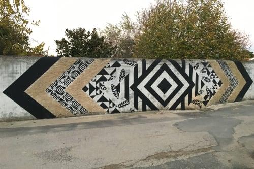 """Street Murals by Alecrim seen at Vila da Marmeleira - """"Fire"""""""