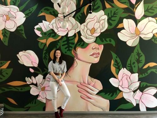 Murals by JUURI - Big Floral Face Mural: Interior Drywall