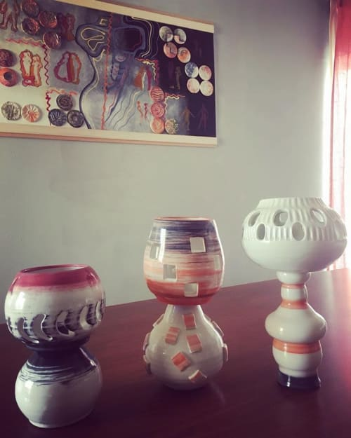 Lamps by Dirty Clay Dishes seen at Private Residence, Los Angeles - Lamps