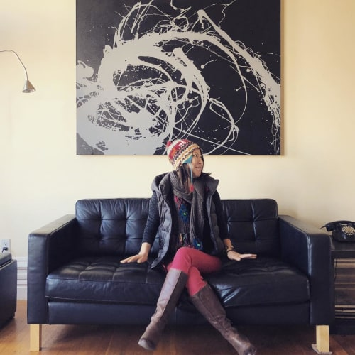 Paintings by junjun li seen at Private Residence, San Francisco - Abstract Painting