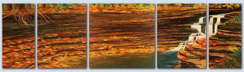 Paintings by Cory Webb Art seen at Repsol USA Inc, Warrendale - Shale Ledge