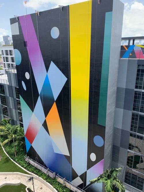 Murals by Muta Vision seen at Wynwood 25 Luxury Rentals - Now Leasing, Miami - Wynwod 25 Condominiums