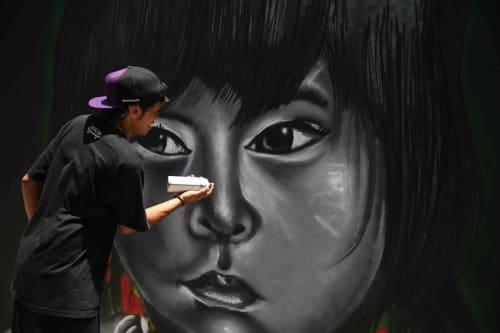 Street Murals by Hullk Manauara seen at Londrina, Londrina - Amazonia