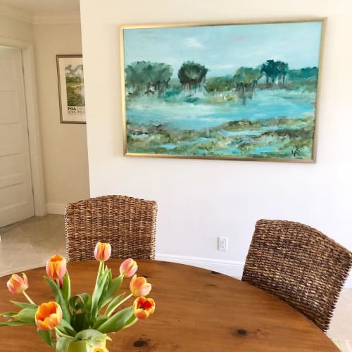 Paintings by Laura Park Designs seen at Private Residence, Boynton Beach - Abstract paintings