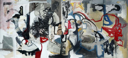 "Paintings by Kristina Davies seen at 888 E 50th Ave, Denver - ""Street Dance"""