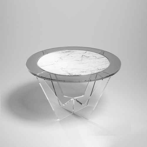 Tables by Madea Milano seen at Private Residence, Milan - Hac Round & Oval