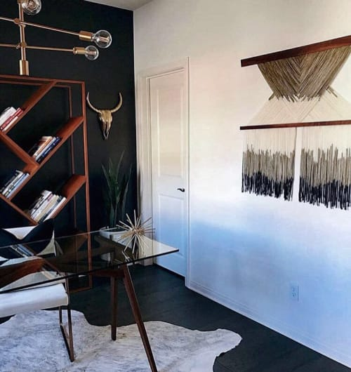 "Art & Wall Decor by Vita Boheme Studio seen at Private Residence, Escondido - ""COMPASS"""
