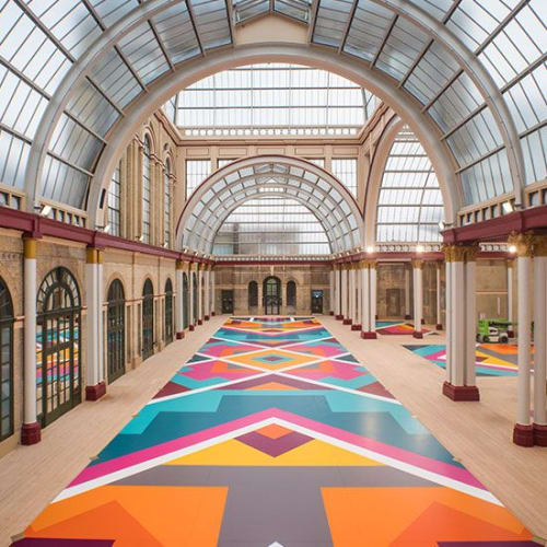 Murals by ART+BELIEVE seen at Alexandra Palace, London - Indoor Mural
