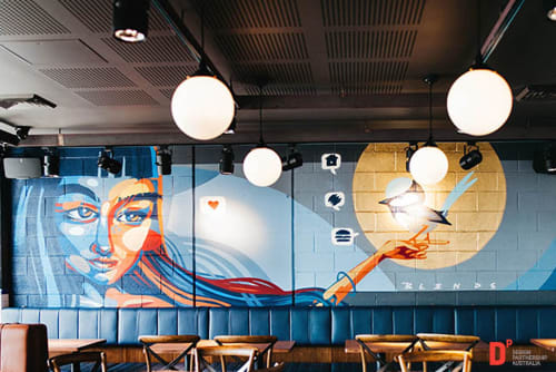 Murals by Sign Action seen at Ribs & Burgers Drummoyne, Drummoyne - Murals