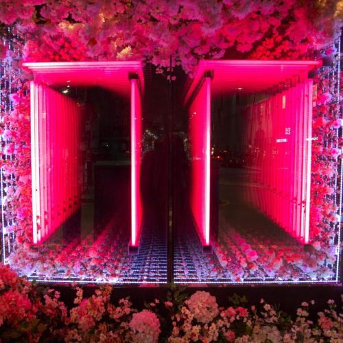 Lighting by Aphra Shemza seen at Sexy Fish, London - Torii installation