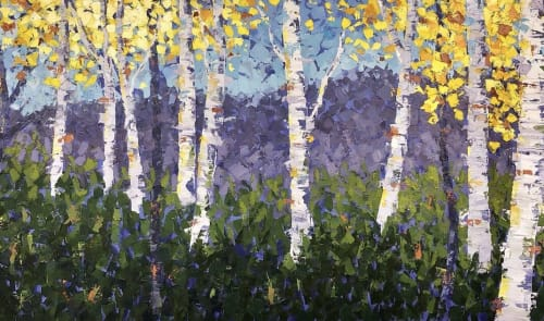 Aspen Hilltop   Paintings by Lelia Davis