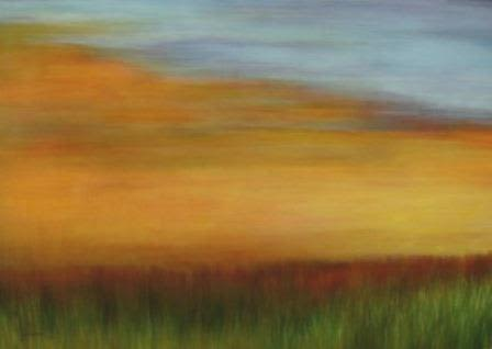 Paintings by Julie Hansen seen at Boone Hospital Center, Columbia - Warm Sky over Prairie Grass