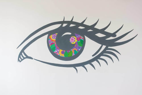 Murals by Melinda Šefčić at University Hospital Centre Zagreb, Zagreb - Eye