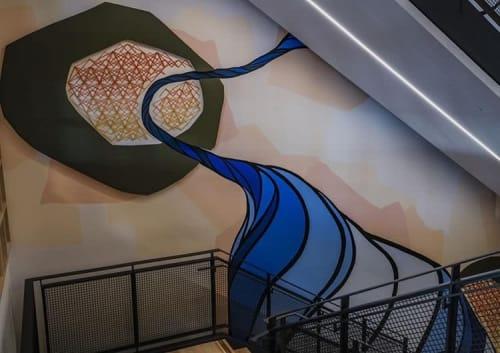Murals by Strider Patton seen at Atlassian, San Francisco - Atlassian Mural