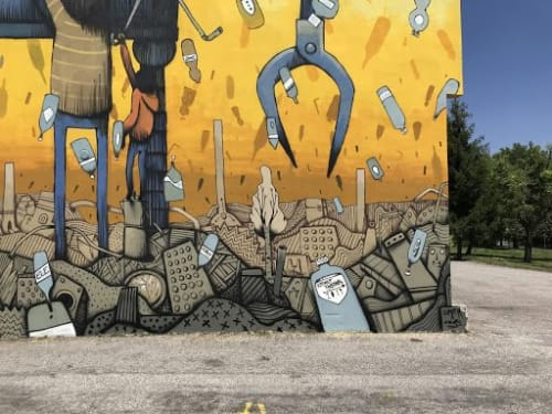 Plastic Rain | Street Murals by Mrfjodor aka Fjodor Benzo | Lunetta in Lunetta-Frassino