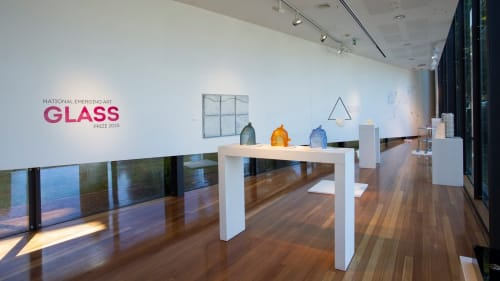 Sculptures by NC Qin seen at National Art Glass Gallery, Wagga Wagga - Nancy Qin Yu
