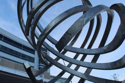 Public Sculptures by Amie Jacobsen Art and Design at Genesis Medical Center, Davenport, East Rusholme Street, Davenport - Tempest Ballet