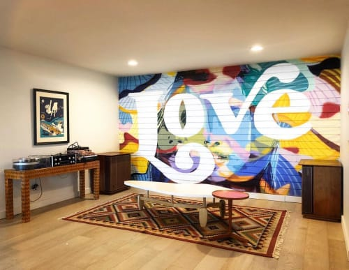 Murals by Mallory Dawn seen at Private Residence, San Diego - Love mural