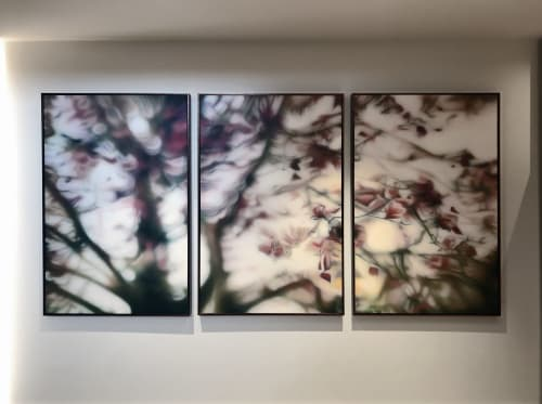 "Paintings by Laura Wood seen at Private Residence, Oakville - ""So The Sun Shines Upon Me"""