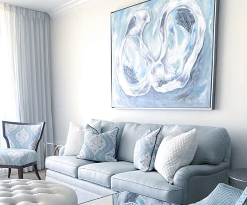 Paintings by Amy Fogg Art seen at Private Residence, Destin - Oyster Duo