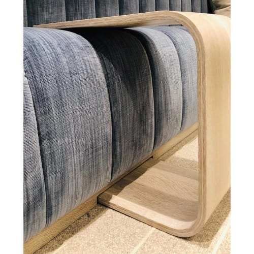 Tables by AW Woodworks seen at Entrada At Snow Canyon Country Club, St. George - C-Shaped Sofa Table Insert