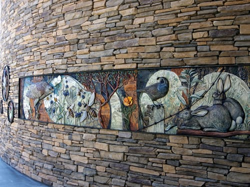 Public Art by Betsy K. Schulz seen at Alpine, Alpine - The Nature of Alpine Murals