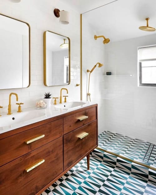 Sconces by Cedar & Moss seen at Private Residence, New Rochelle - Walnut Wyatt Sconce