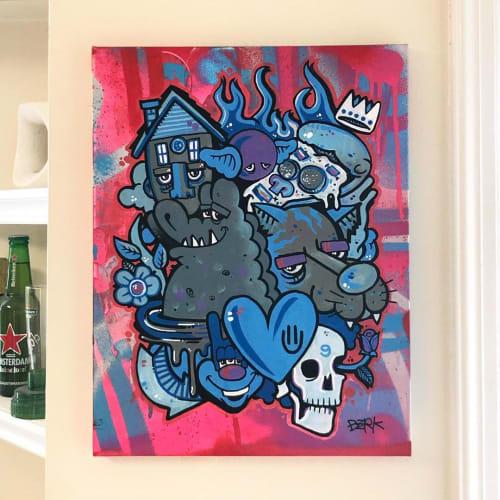 Paintings by Berk Visual seen at Private Residence, Pasadena - Painting