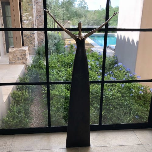 Sculptures by Corbin Bronze seen at Private Residence, Scottsdale - Lyric