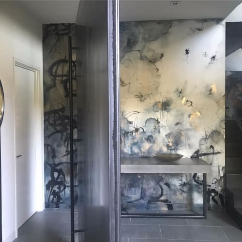 Wall Treatments by Caroline Lizarraga seen at Private Residence, Mill Valley - Wall Covering