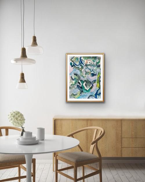 Paintings by K'era Morgan seen at Los Angeles, Los Angeles - Serpent Series IV