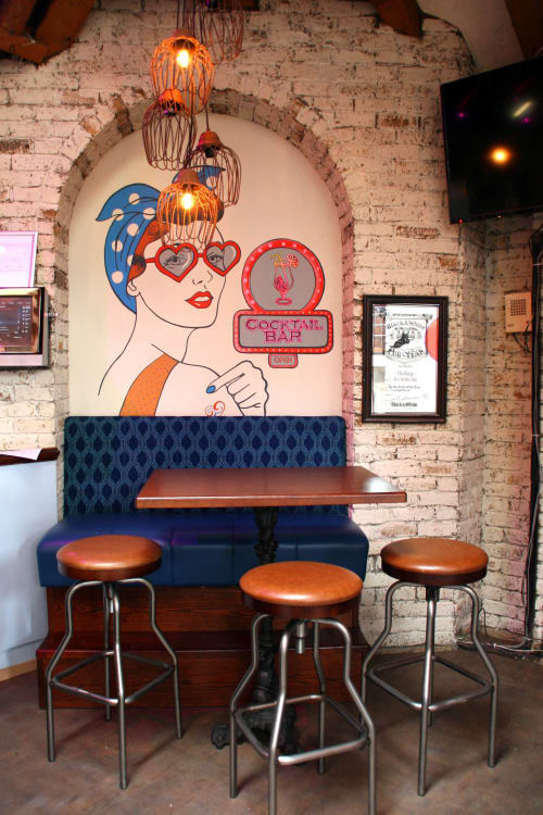 The Barge Murals | Murals by Fran Halpin Art | The Barge Gastro Bar in Baile Átha Cliath
