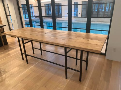 Tables by Donut Shop Design seen at Private Residence, Cleveland - Harrington Table