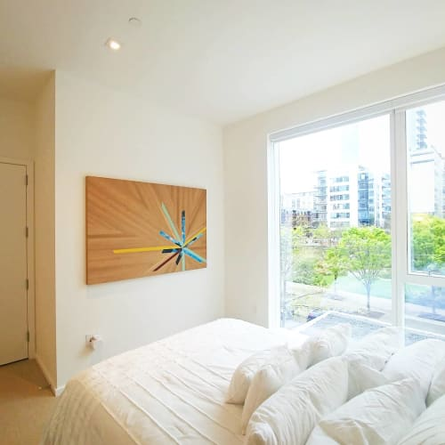 Art & Wall Decor by Christopher Original at Private Residence, Portland - Oak Starburst