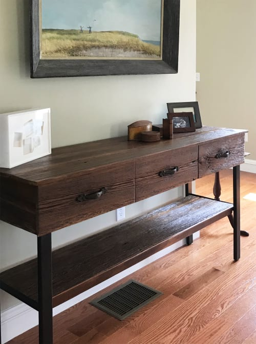 Furniture by Abodeacious seen at Private Residence, Sherborn - Rustic dining console