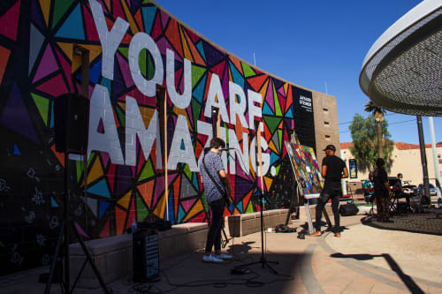 Street Murals by Jayarr Steiner seen at North Central Avenue & West Roosevelt Street, Phoenix - YOU ARE AMAZING - CENTRAL & ROOSEVELT