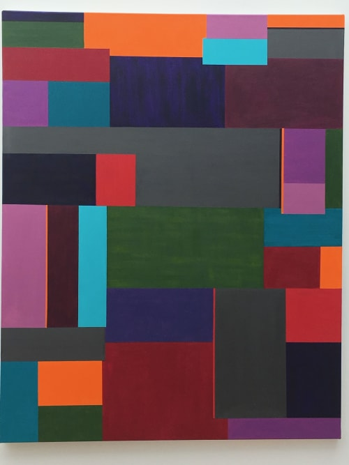 Paintings by Dale Weiss Art seen at Private Residence, Santa Monica - Stop and Go