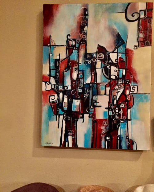 """Paintings by Laurie DeVault Fine Art seen at Private Residence - """"It's Five O'Clock Somewhere"""""""