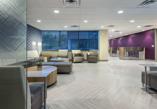 Interior Design by Donnelly Banks Interiors seen at LifeScan, Malvern - Main Line Corporate