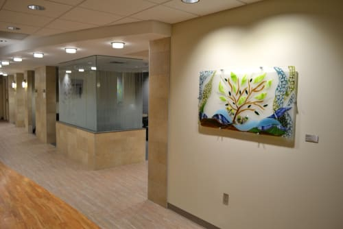 Art & Wall Decor by Bonnie Rubinstein Studio at Hennepin County Medical Center, Minneapolis - Reaching for the Sky