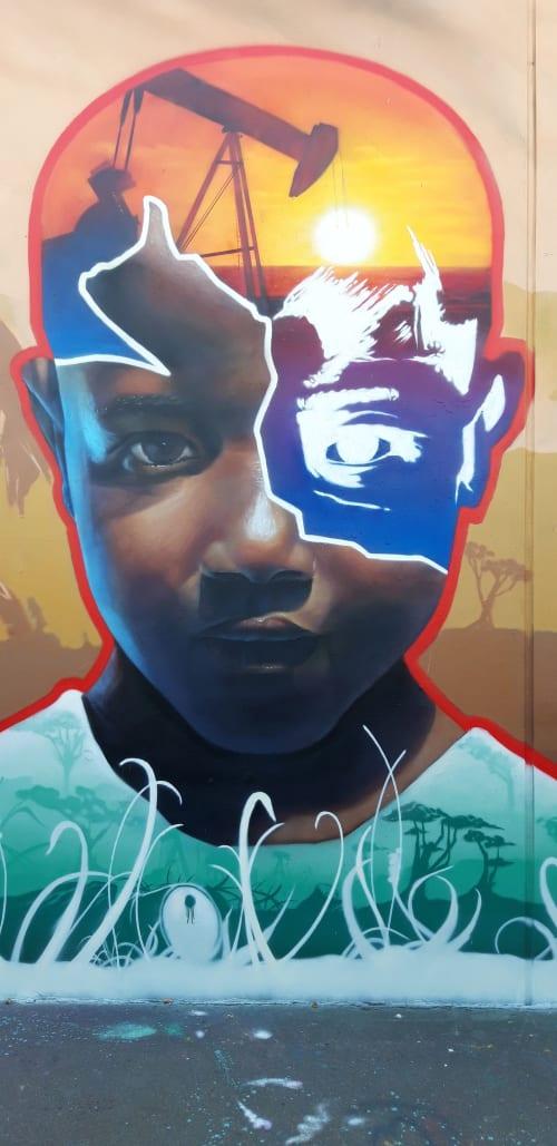 """Street Murals by MATE artist seen at Berlin, Berlin - """" Petroleum """""""