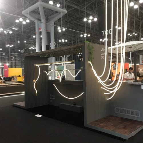 Lighting by Luke Lamp Co. seen at Jacob K. Javits Convention Center, NYC, New York - ICFF 2019 Show