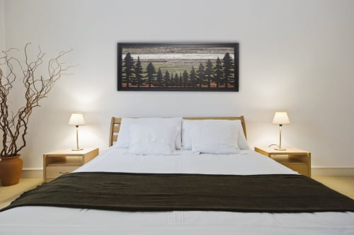 Wall Hangings by Craig Forget seen at Private Residence, Rossland - Pine Tree Forest