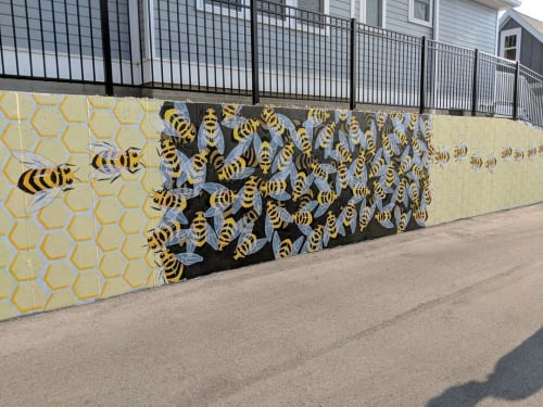 Street Murals by Lily Hollinden seen at 227 W Dodds St, Bloomington - B-Line Mural