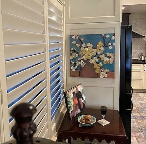 Paintings by Terry Scopes Art seen at Private Residence - 'Spring' mixed media acrylic painting