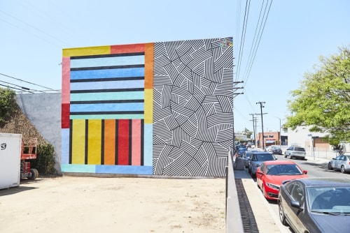 Murals by Love bErto seen at Venice Beach, Los Angeles - Electric